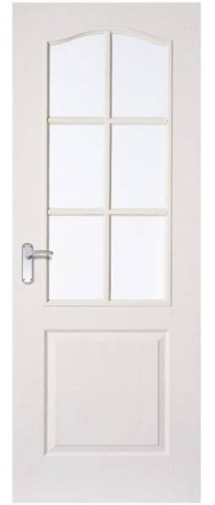Arched Top 6 Glazed Door